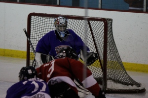 hockey goalie, shutout game, family, photograph
