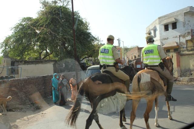 roadside scene in India
