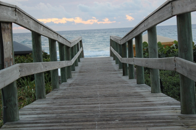 approaching the ocean