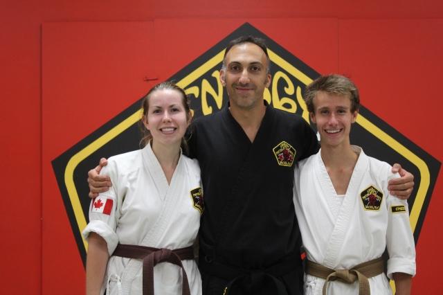Black Belt test (after)